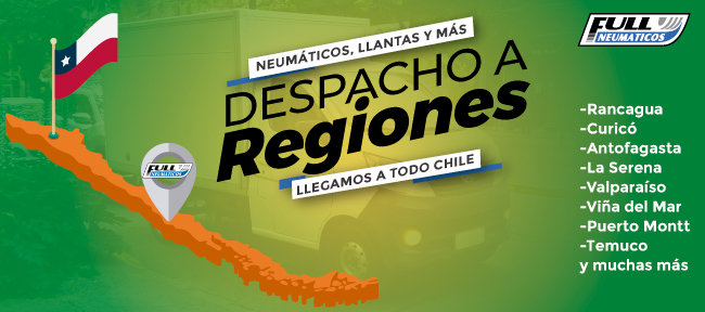 Neumáticos a regiones