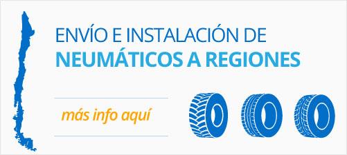 Envío de Neumáticos a regiones